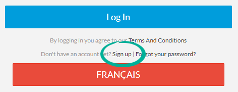 sign up example