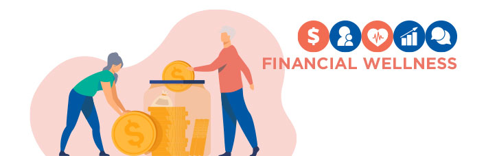 illustration of retirees saving money