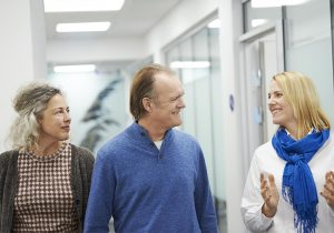 couple talking with a consultant