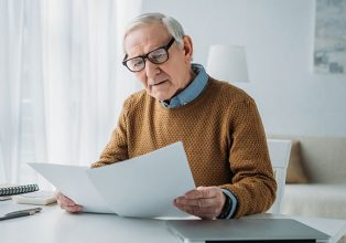 Senior retiree checking if he is eligible