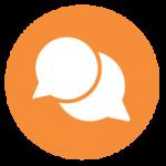Advocacy icon orange